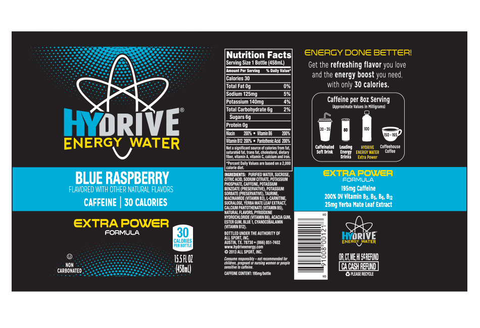 Hydrive Energy Water Product Labels