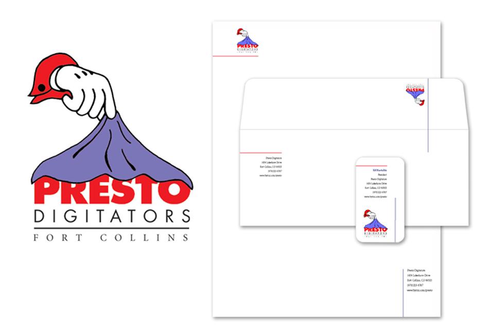 Presto-Digitators Branding