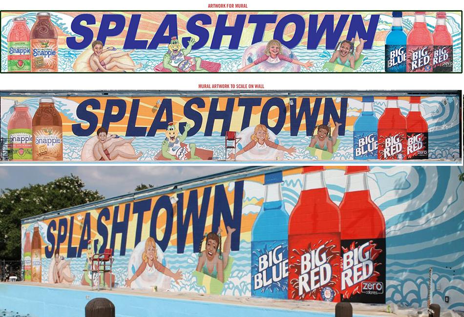 Splashtown Water Park Mural