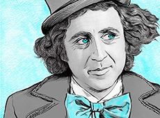 Gene Wilder Digital Portrait