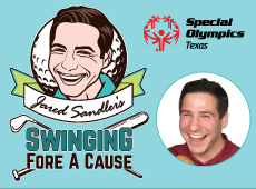 Jared Sandler Swinging Fore A Cause Logo