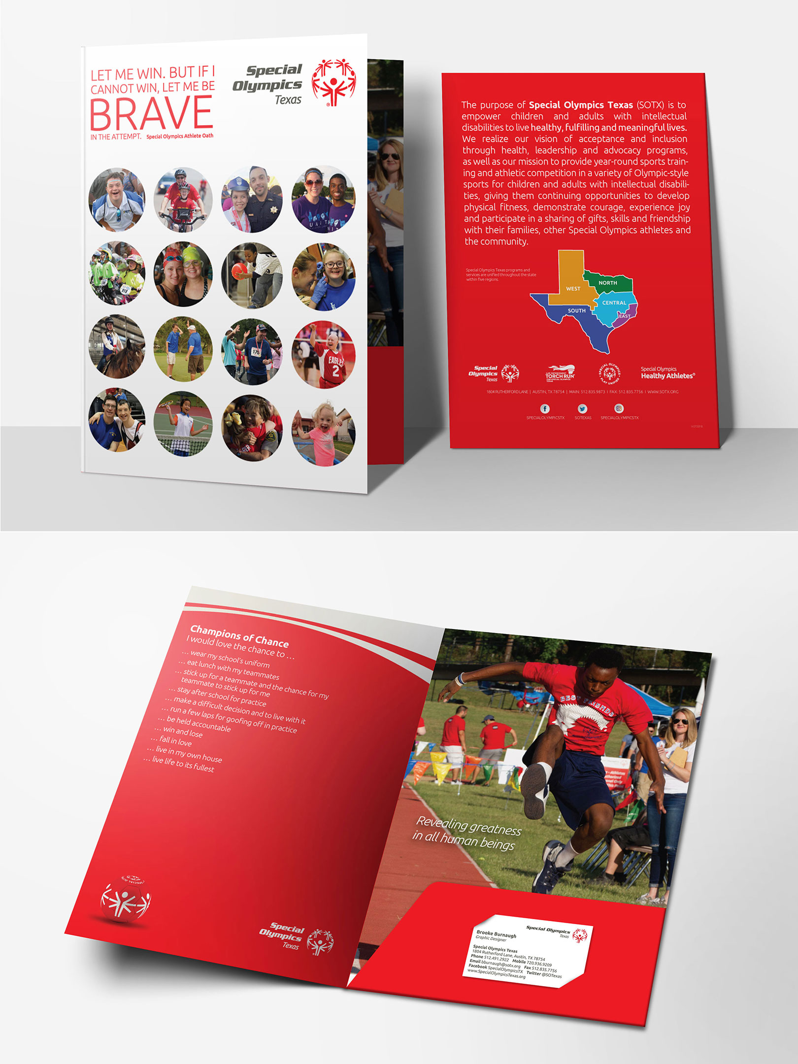 Pocket Folder for Special Olympics Texas